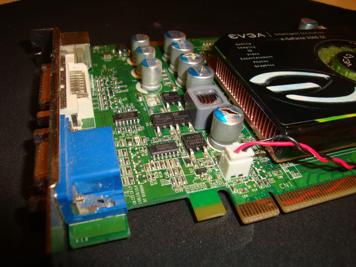 Bad capacitors on a video card.