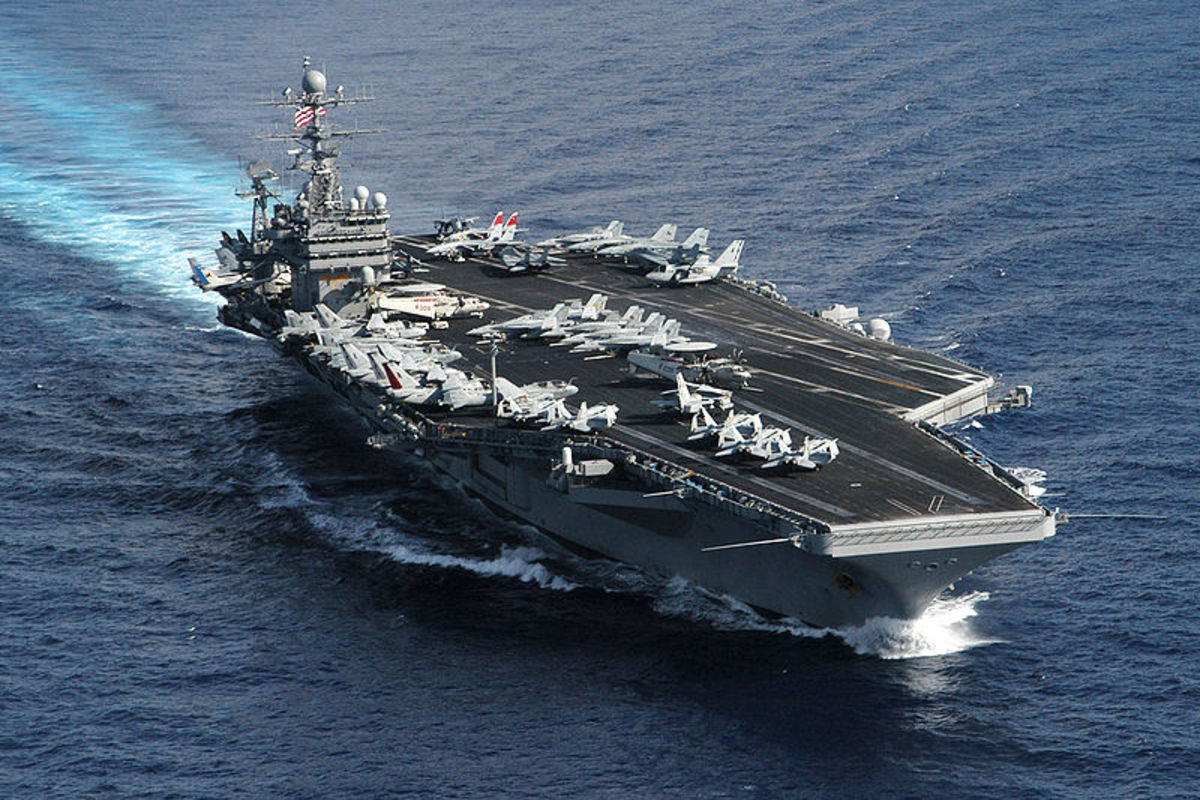 USS Theodore Roosevelt.
