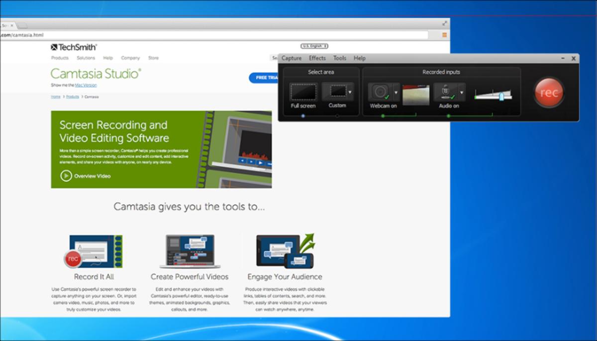 Camtasia Studio (Windows) Recording Screen