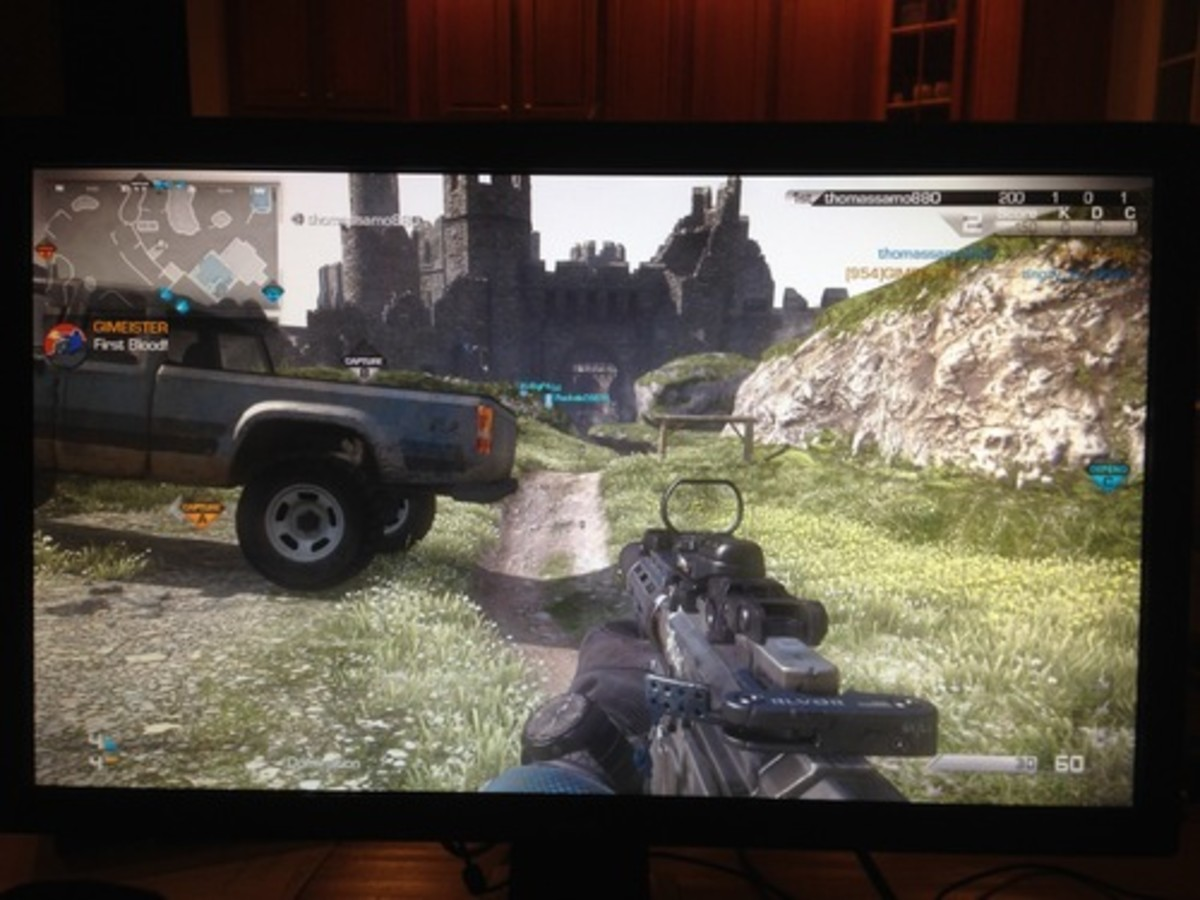 This is a look at COD Ghosts on the BenQ RL2455HM using RTS2 settings.