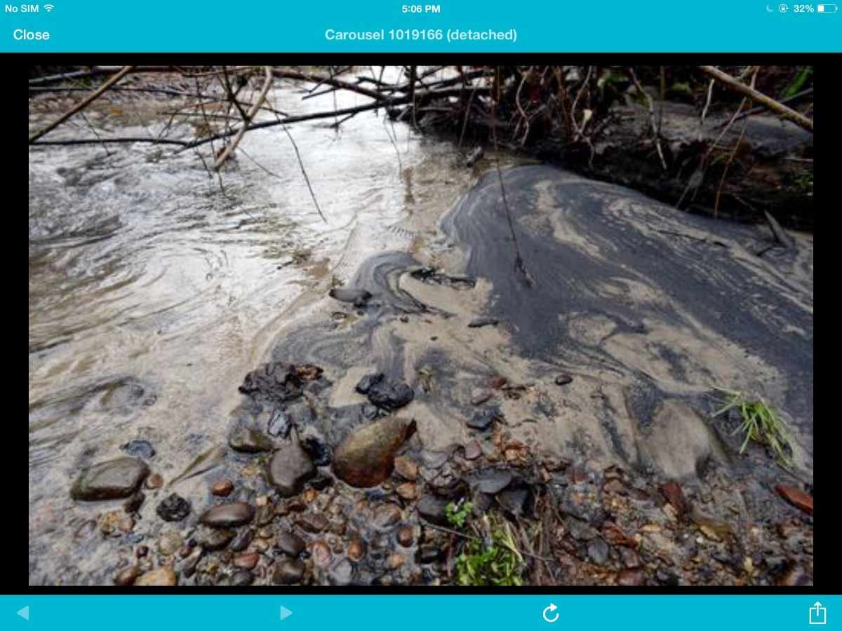 Additional photos of the coal spill are available through augmented reality.