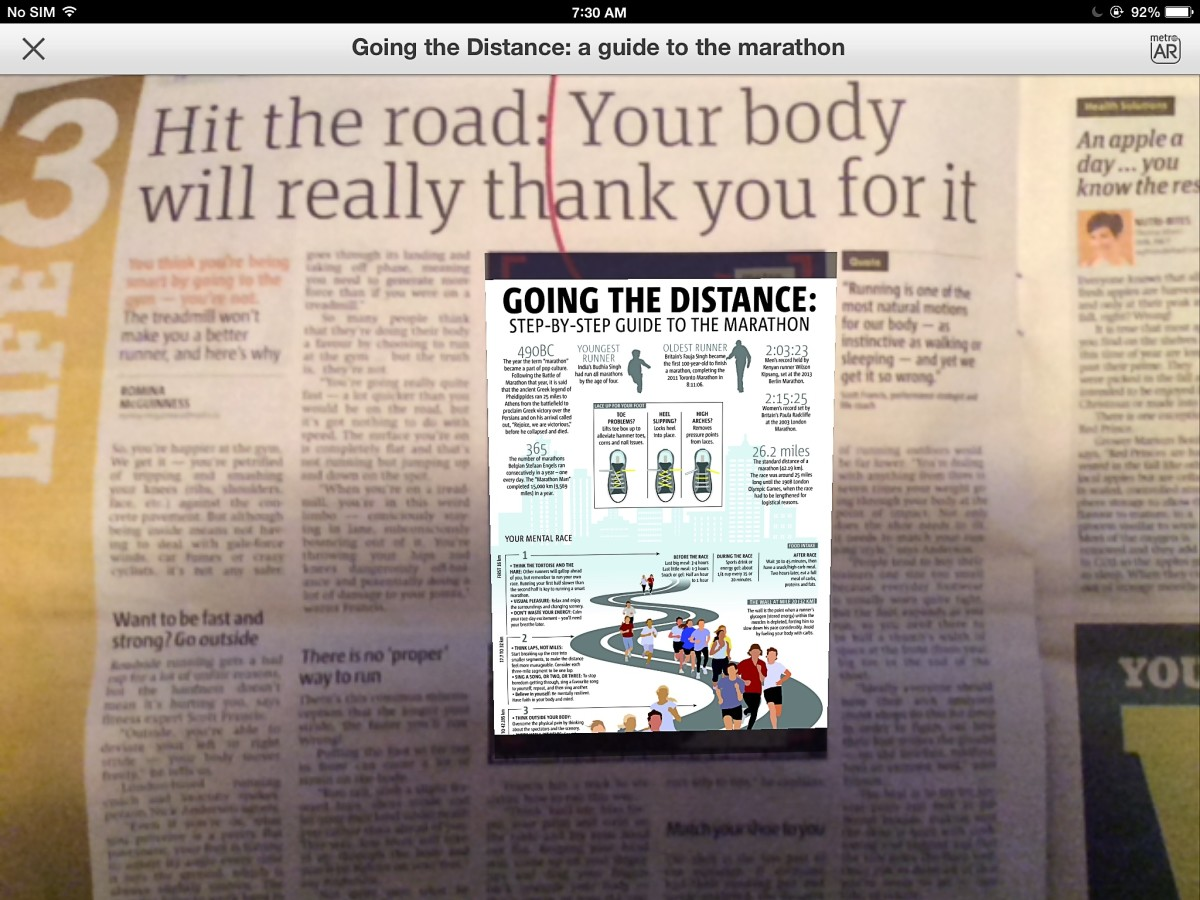 Some people feel that simply overlaying a newspaper picture with another one is not the best use of augmented reality.