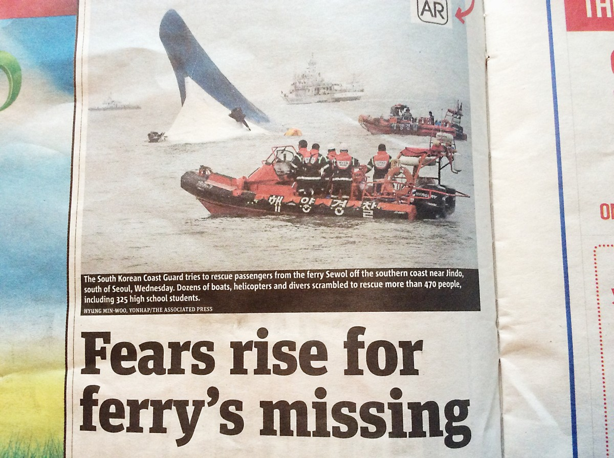 This photo of a sinking ferry is linked to AR.