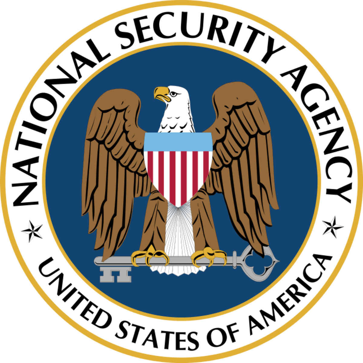 The logo for the National Security Agency (NSA).