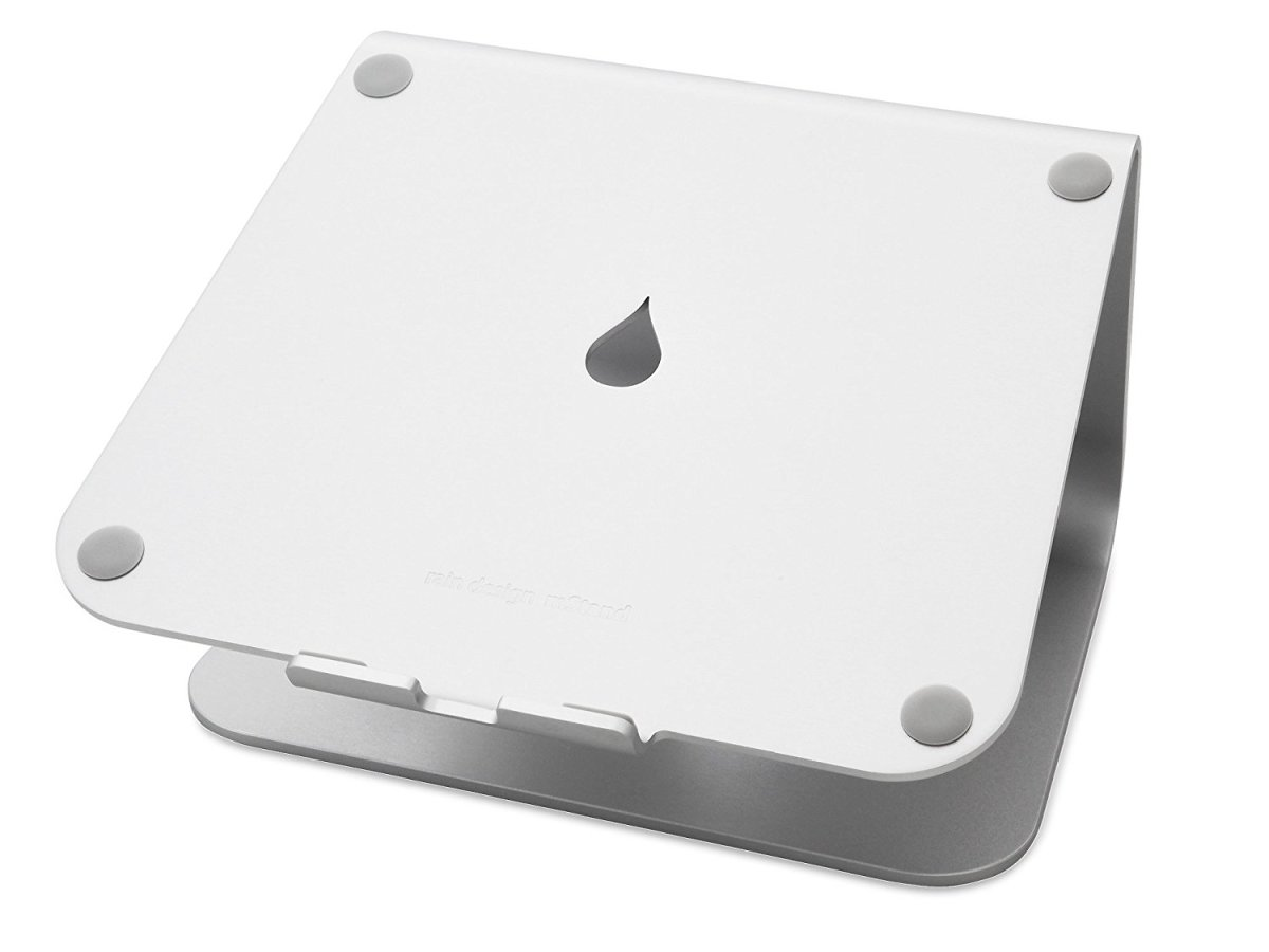 The Rain Design mStand Laptop Stand is an excellent accessory for those of us who sit at our MacBooks for long periods of time. Typing and viewing are more comfortable, and the stand also allows better airflow and cooling.
