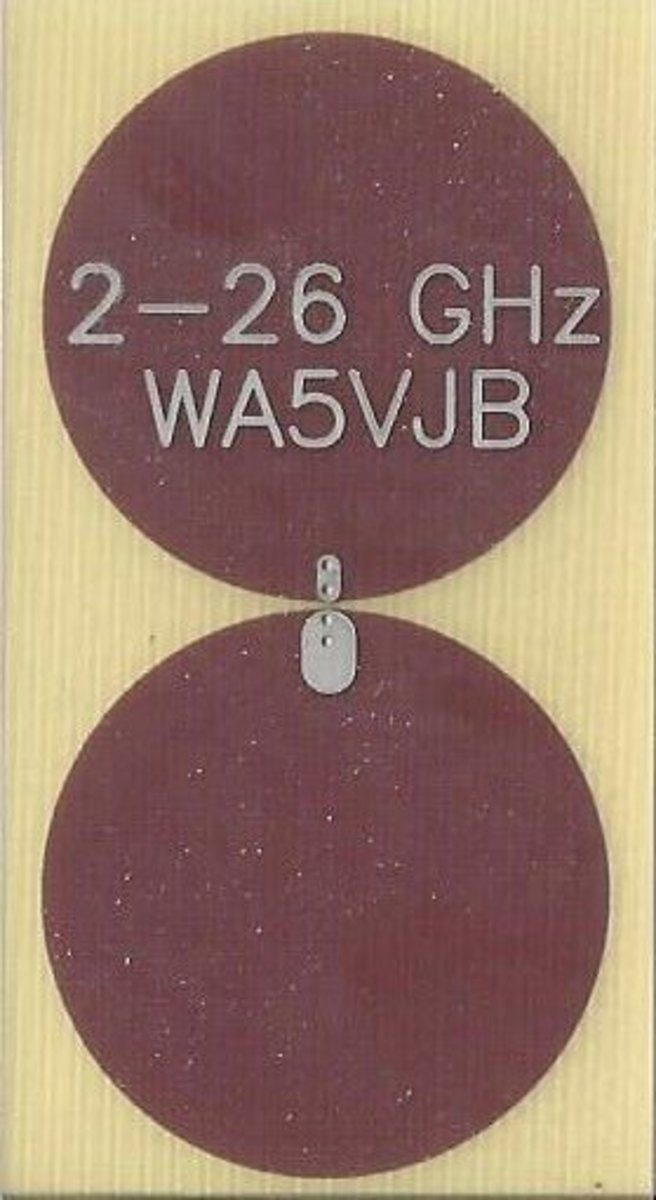 This 2-26 GHz planar antenna covers then entire UWB frequency range.