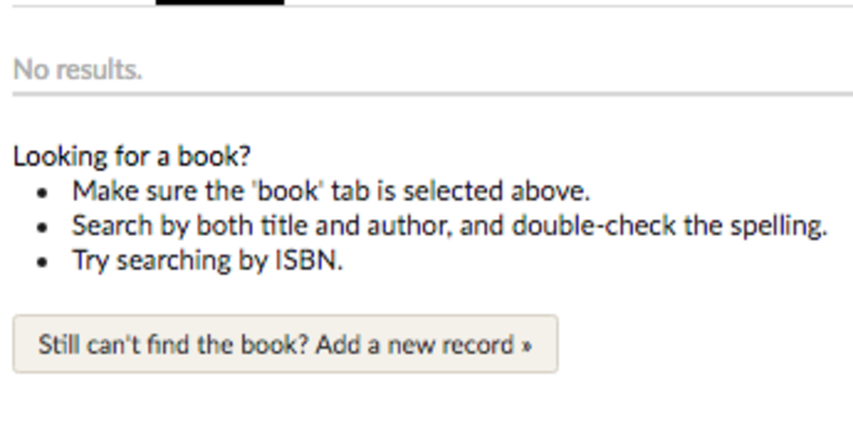 How to add a new book record on Goodreads
