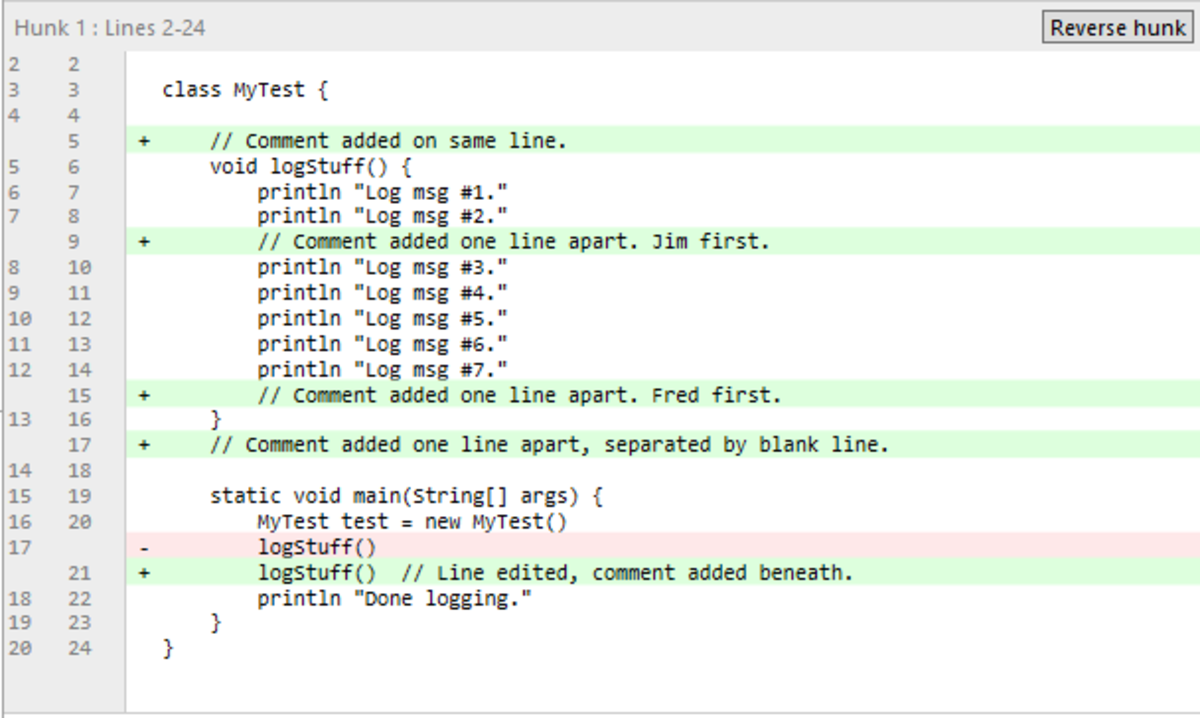 Jim's commit in the example.