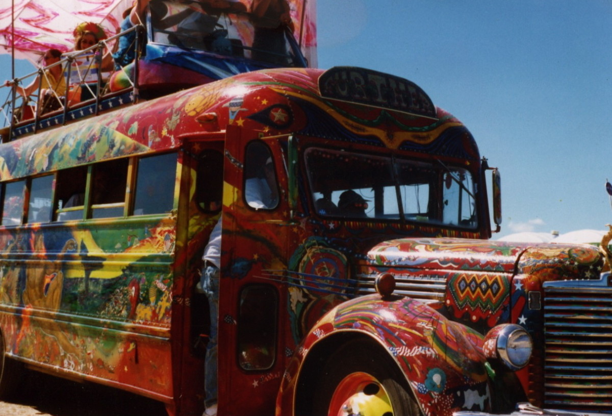 """""""Further"""" was the psychedelic bus that Ken Kesey and the Merry Pranksters famously took on trippy road trips."""