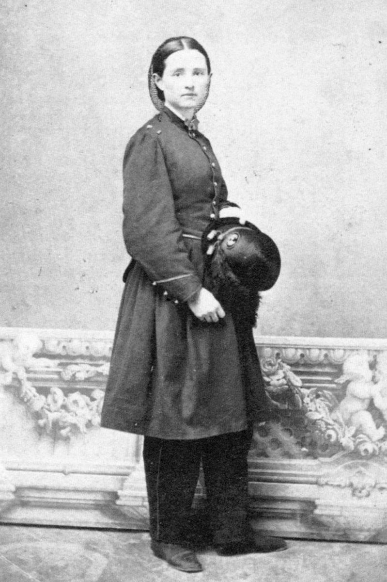 Mary Walker wearing Union Army uniform