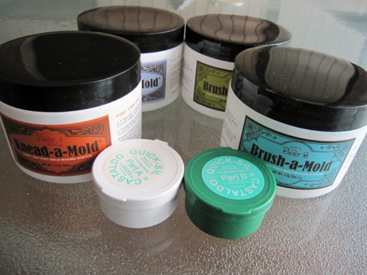 Knead-a-Mold, Brush-a-Mold and Castaldo Quick-Sil silicone molding putty