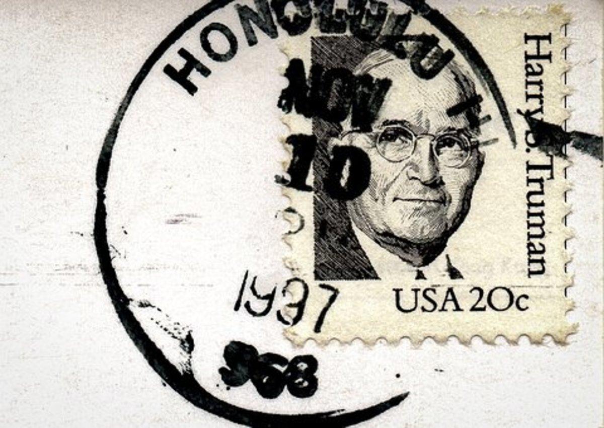 A postmarked postcard
