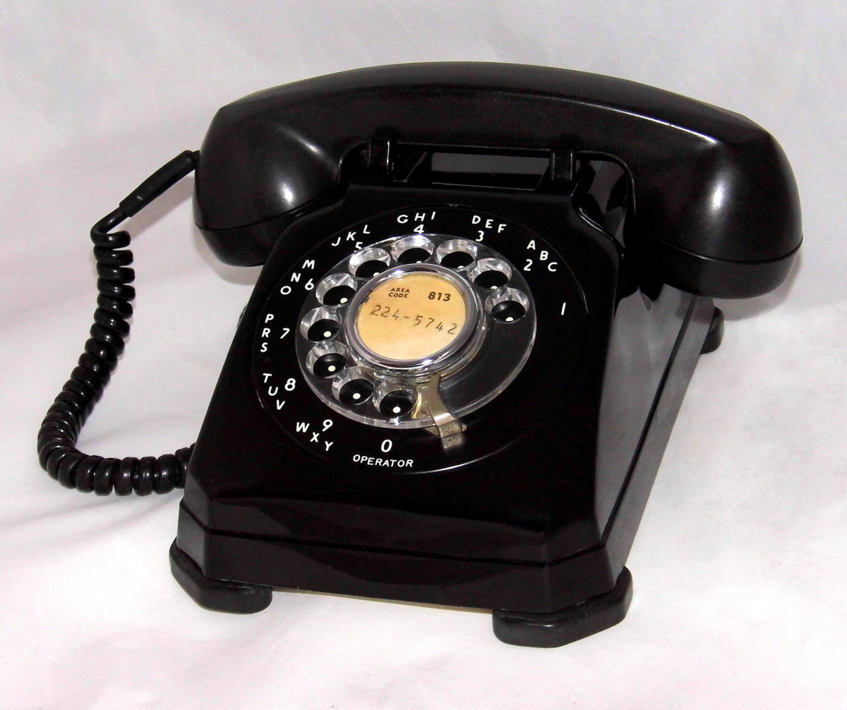 In the 1950s, phones were mostly big, black, heavy things with rotary dials.
