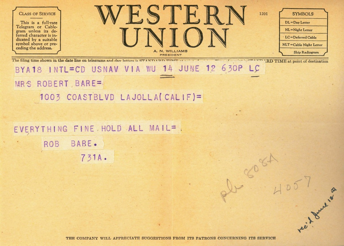 In the 50s, if you or the person you wanted to reach did not have a phone, you'd send a telegram.