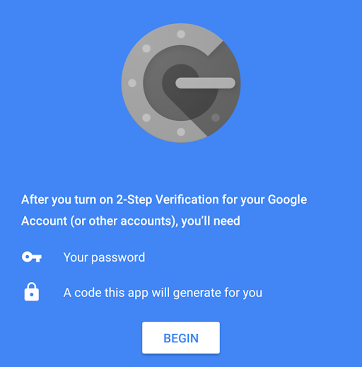 The Google Authenticator Application.