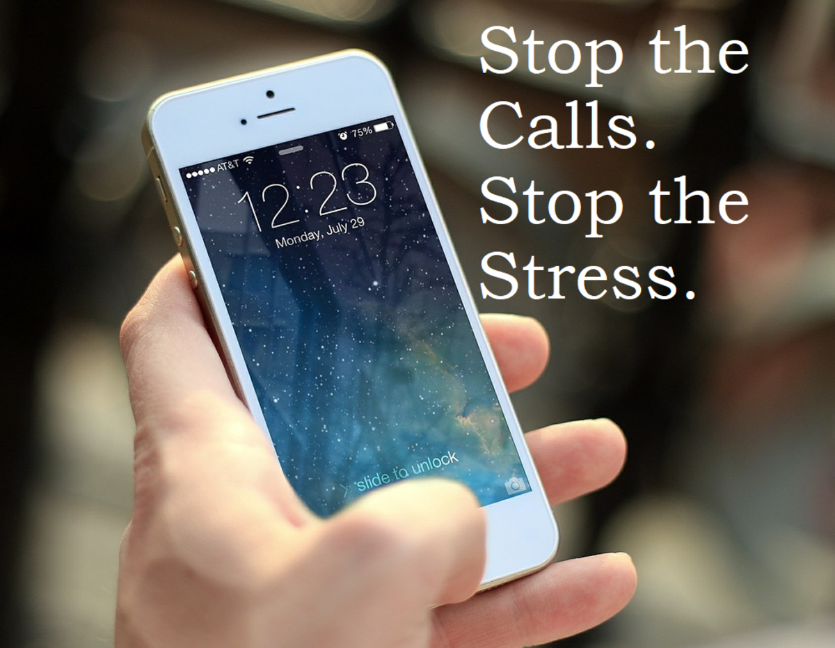 By stopping the calls from angry people, I was stopping the stress as well.