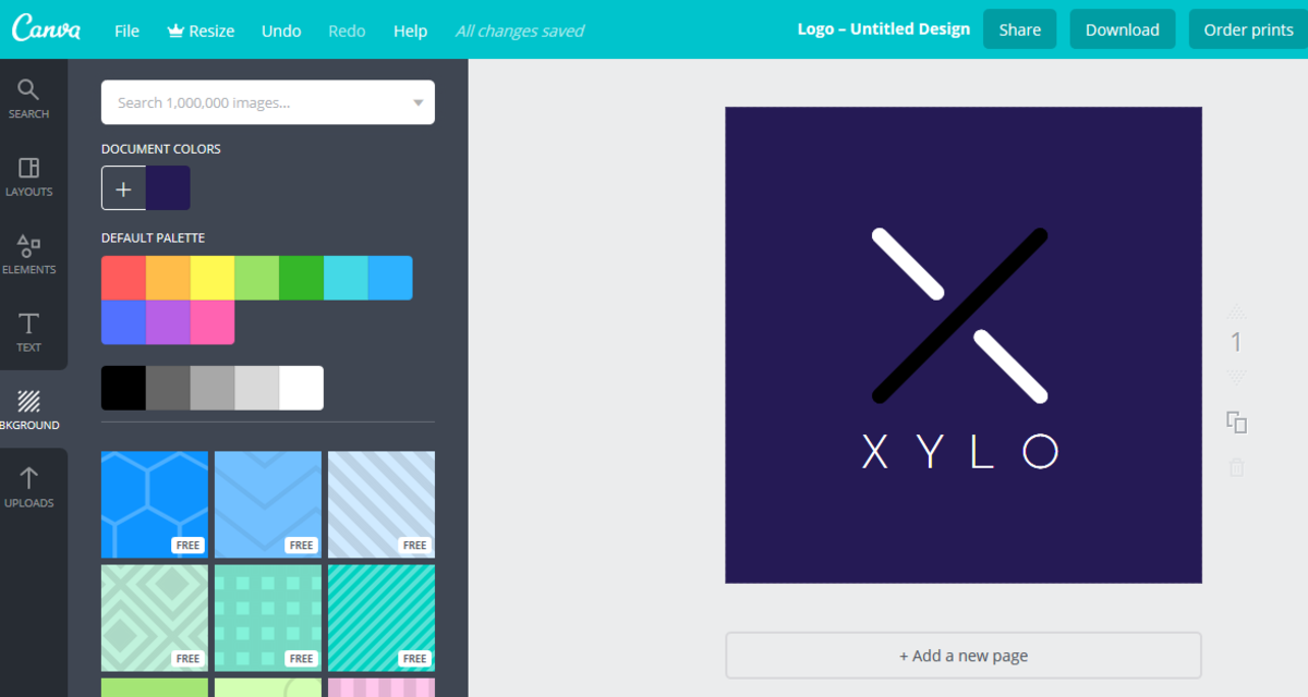 Creating a logo with Canva