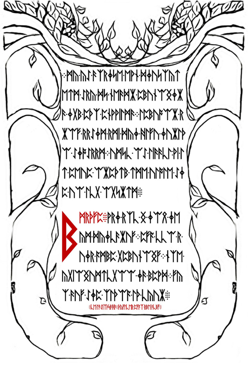 A page from the Liber Primus.