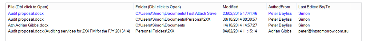 FindAlike Similar Files Results