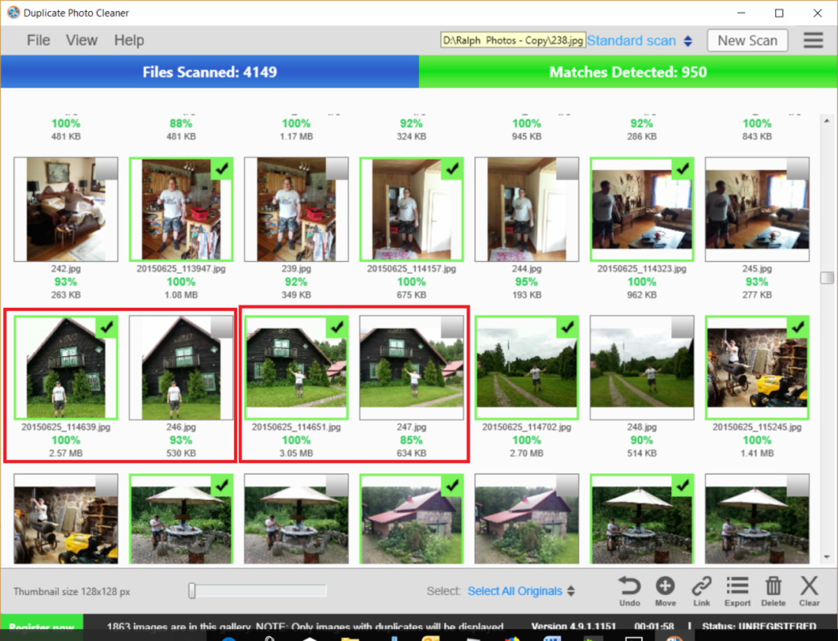 Duplicate Photo Cleaner Interface
