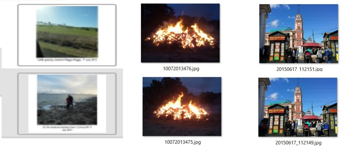 Image pair found similar using PictureEcho  Image Analysis (left) and image pairs not found smilar using Image Analysis (middle, right)
