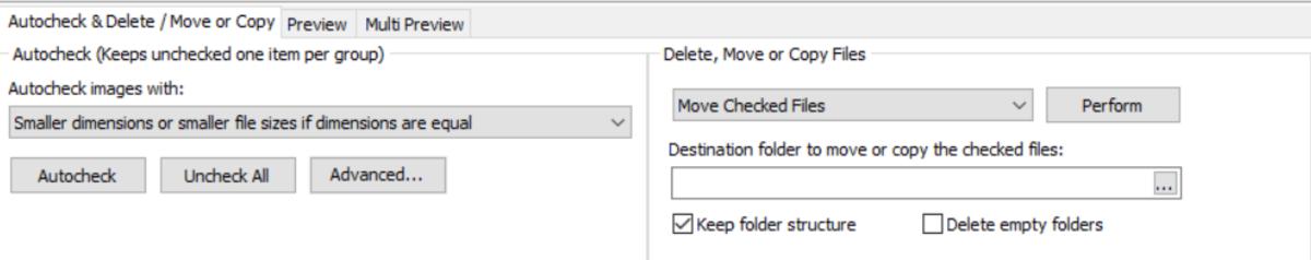 Visual Similarity Duplicate Image Finder Action Tab