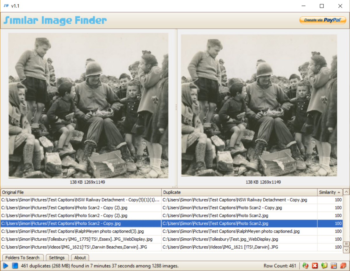 Similar Image Finder Interface