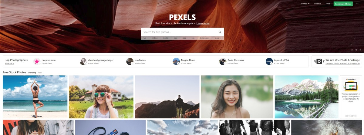 Pexels offers an amazing selection of free photos.