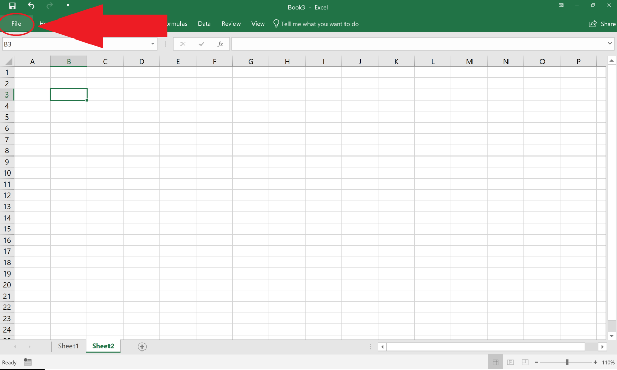 The file button in Excel displays many options for Excel use. When clicked all of the information about the spreadsheet is displayed. Other features include the ability to create a new spreadsheet, open an existing file, account info and more.