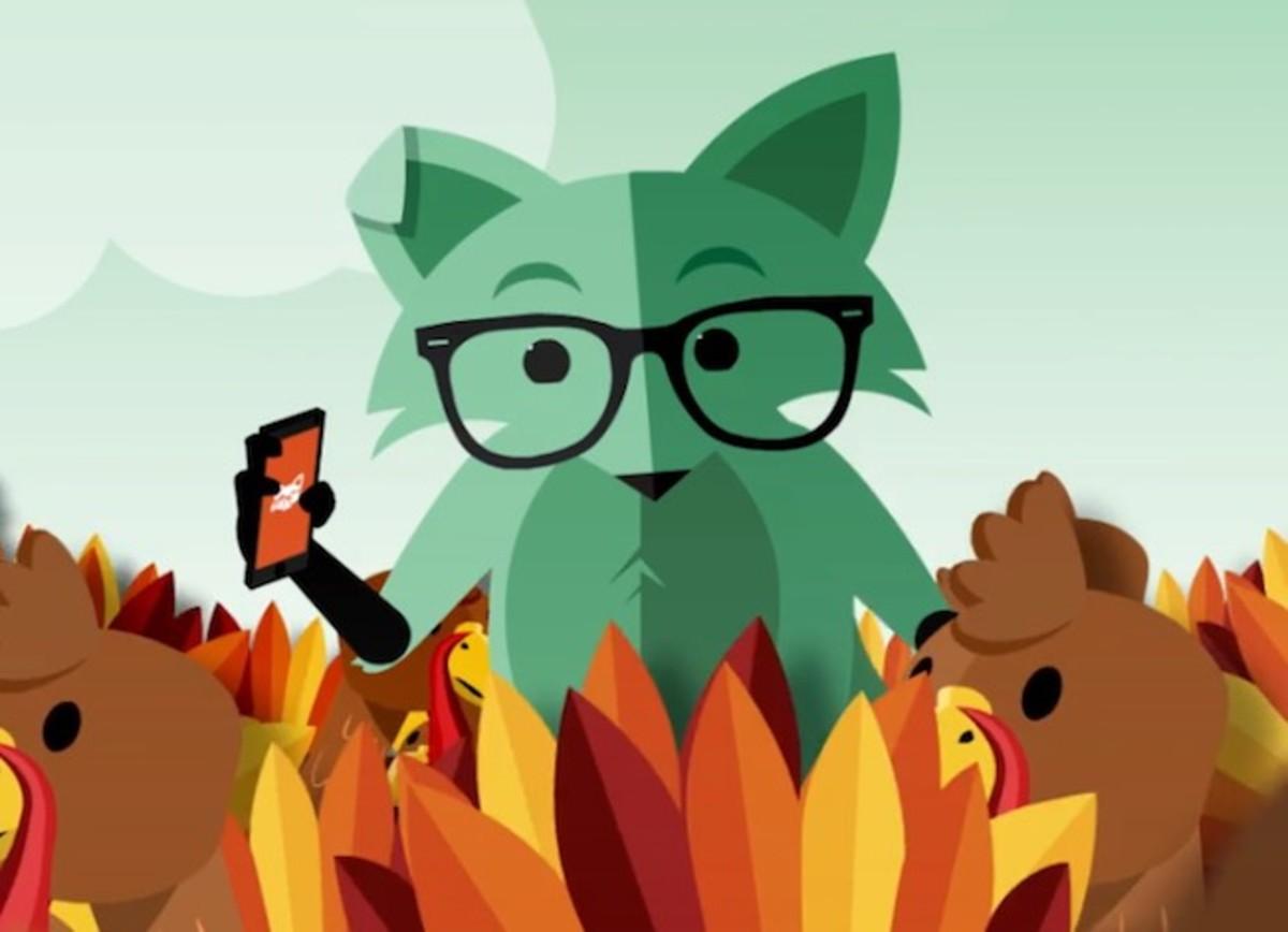 Mint Mobile's Fox Mascot