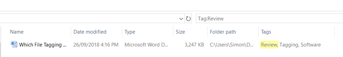 Finding Windows tags