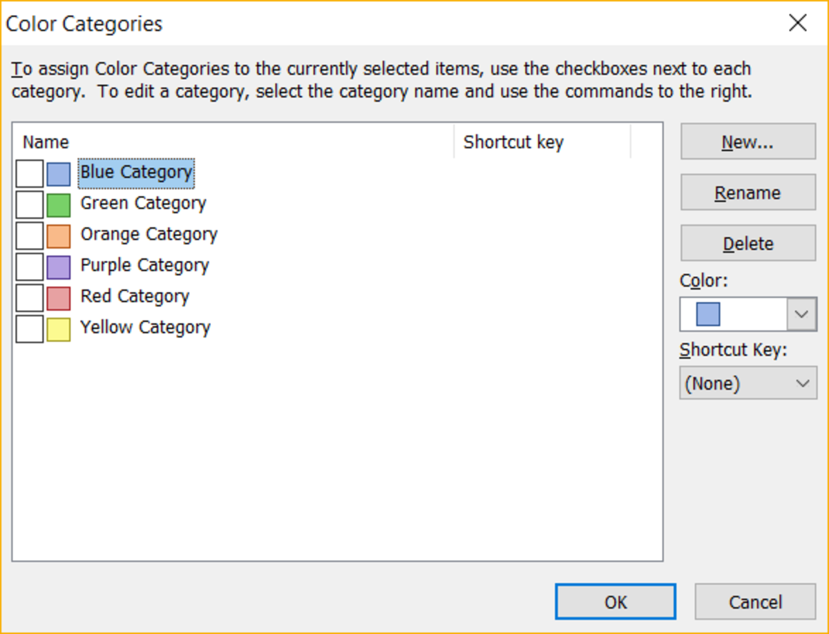 New Outlook Category