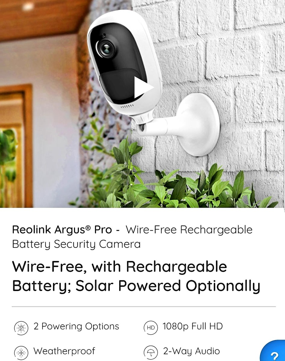 Review of Reolink Argus Pro Security Camera (100% Wireless