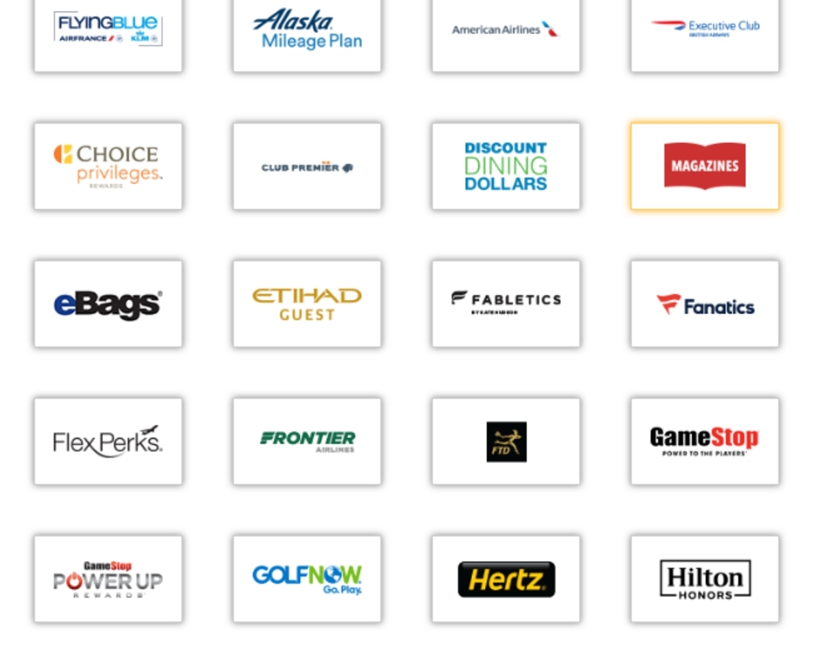 Available brands with e-Rewards.