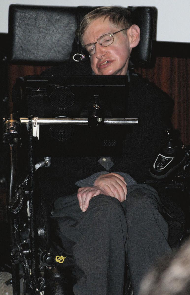Stephen Hawking Using a Speech Generating Device