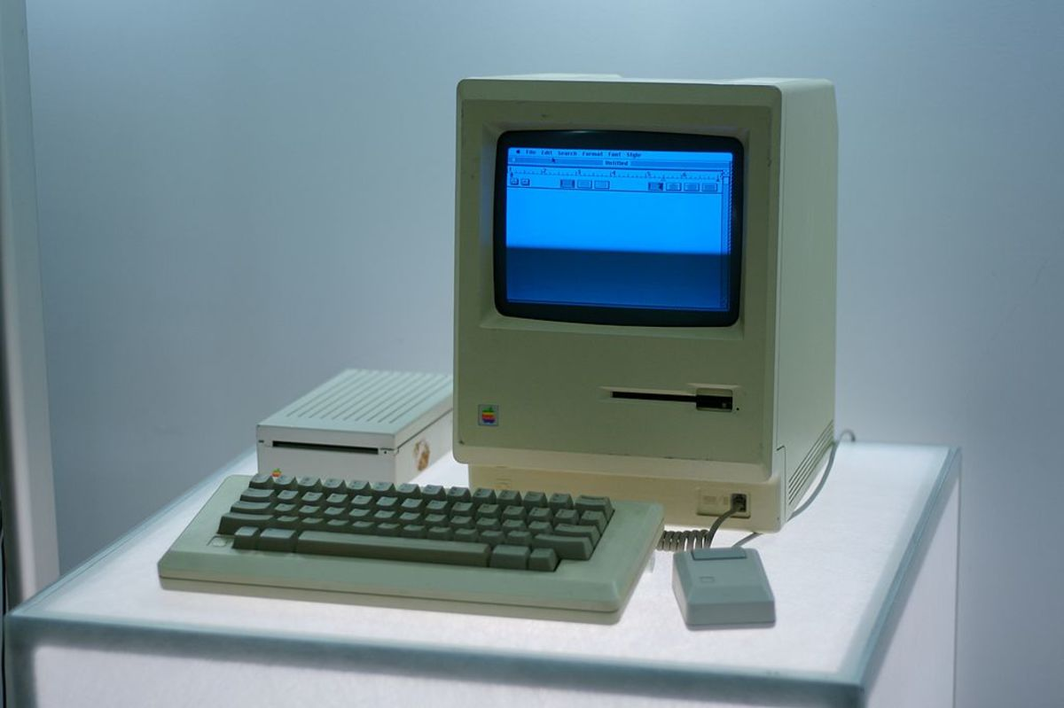 Macintosh made some of the first computers.