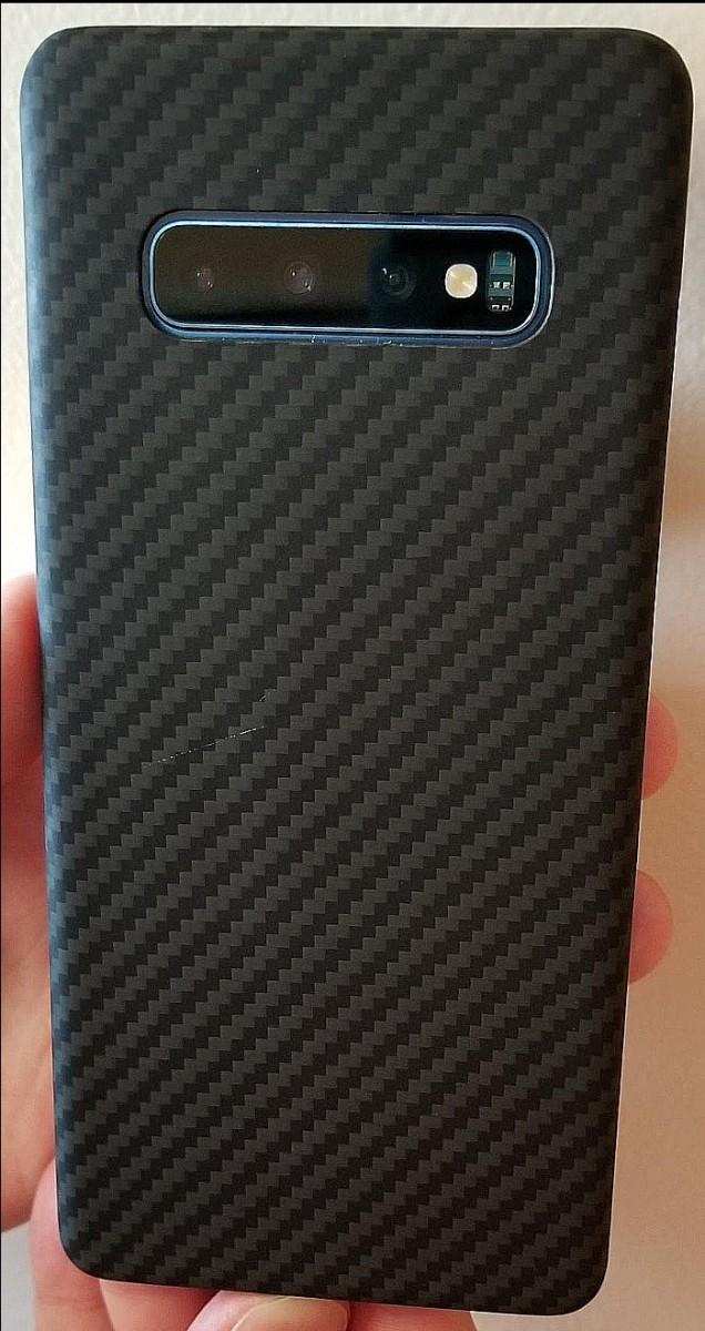 Black Twill MagCase for Samsung S10+