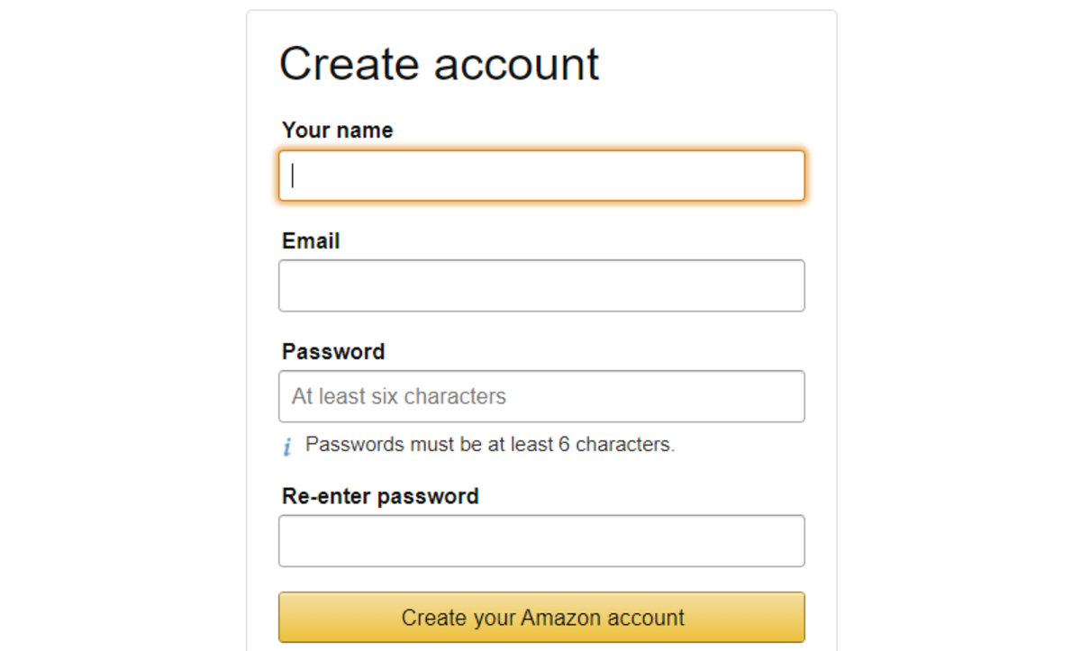 Example of a simple web form.