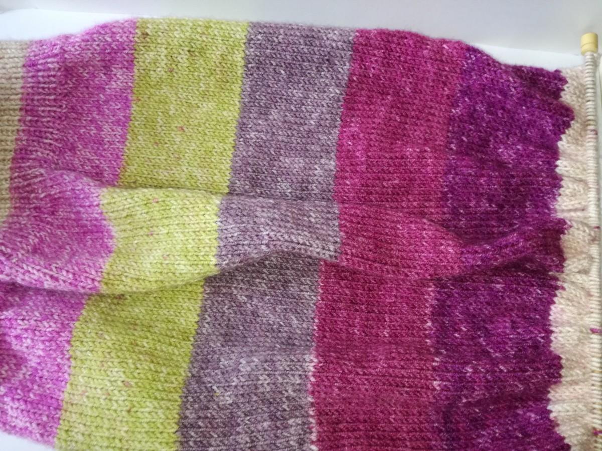 5. My knitted jumper work in progress.