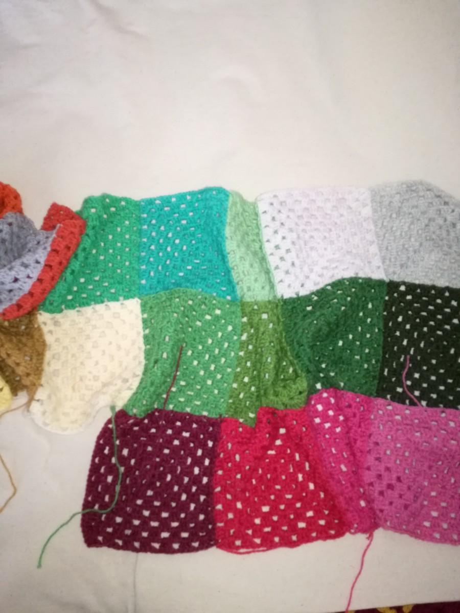 Work in progress: my crochet blanket/afghan