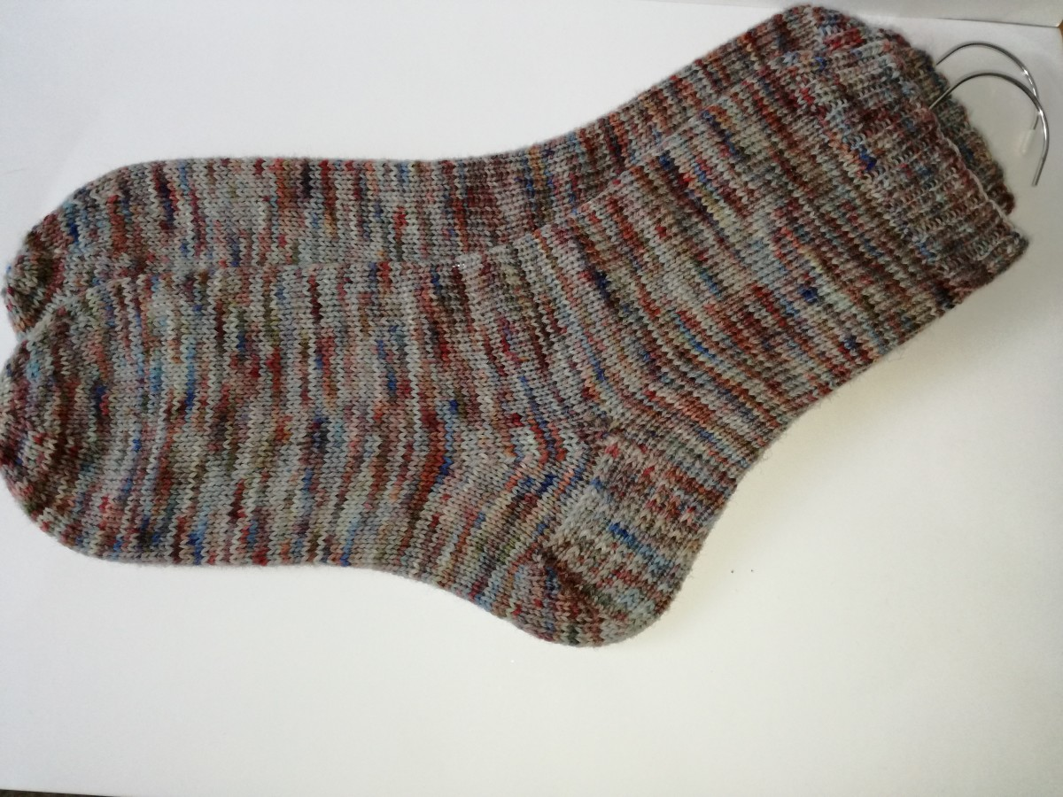 6. My finished object is a pair of knitted socks.