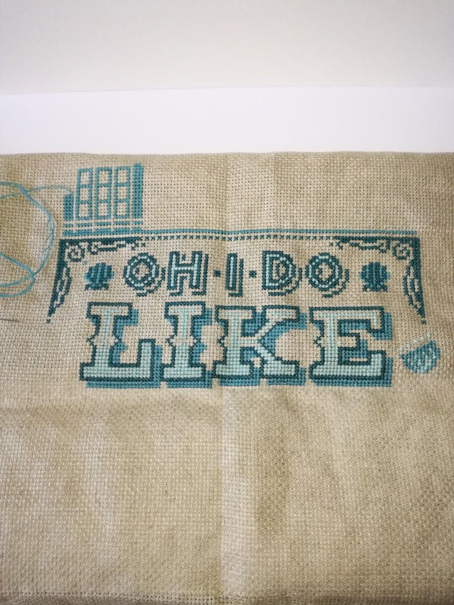 4. My cross stitch work in progress.