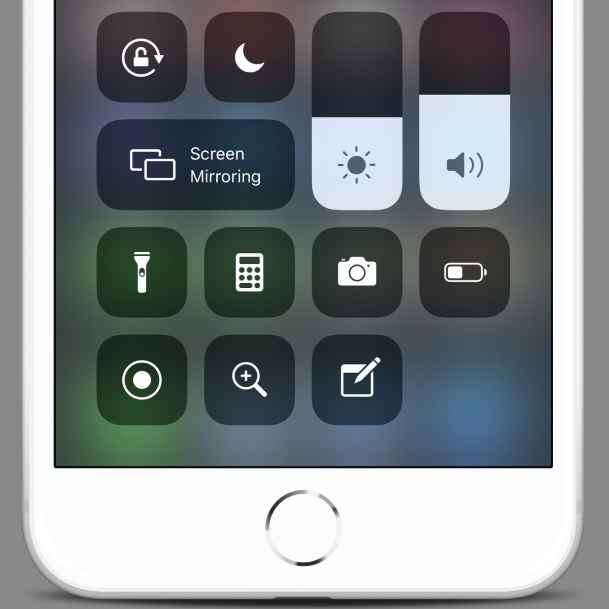 This screenshot shows some of my favorite Control Center actions