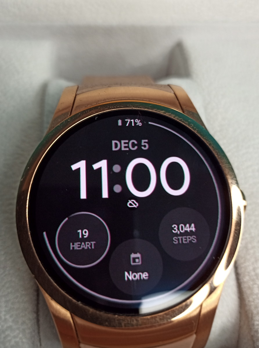 An aftermarket watch face for the Wear24 smartwatch.  These can be downloaded from various companies and are generally free or inexpensive.