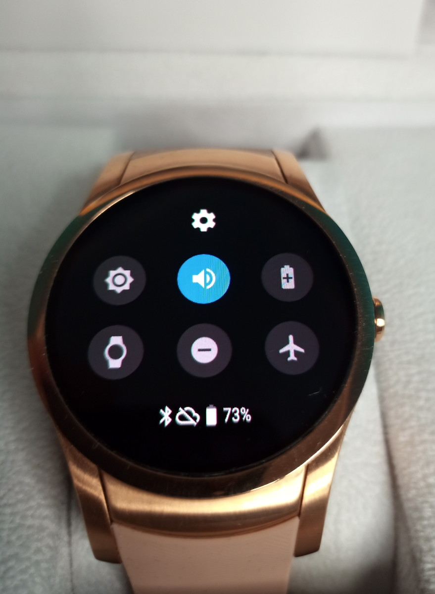 Control panel of Wear24 smartwatch.