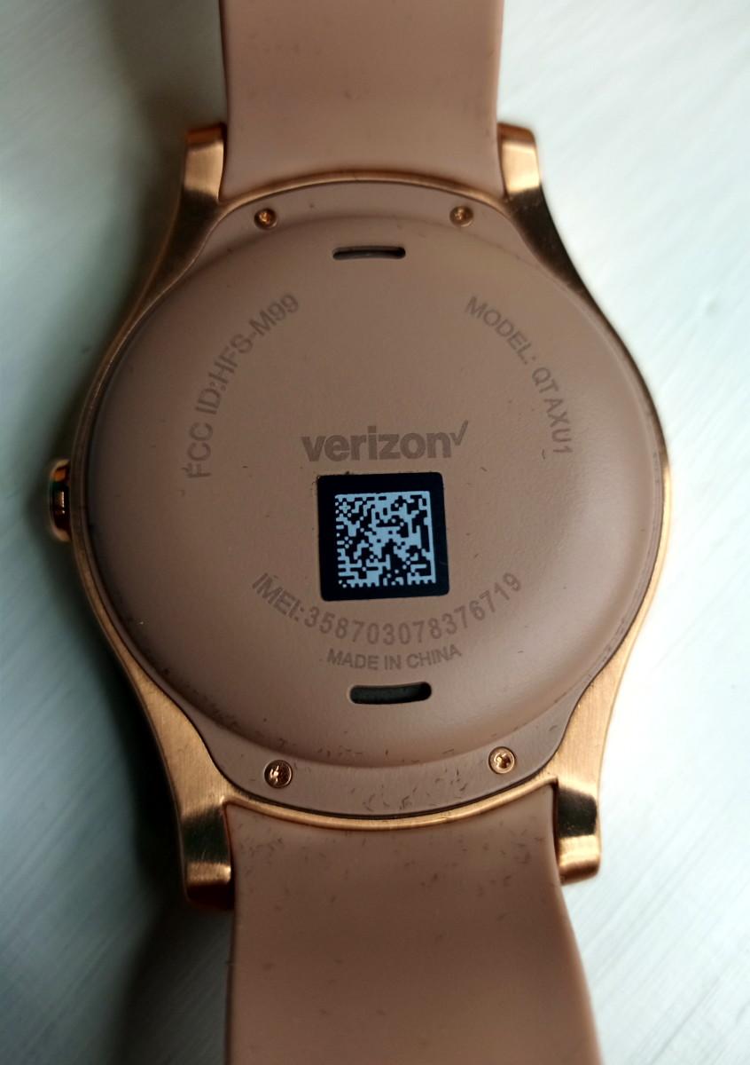 Back of Wear24 smartwatch.