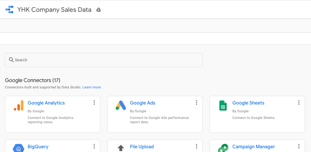 Choose Google Sheets As Your Data Connector