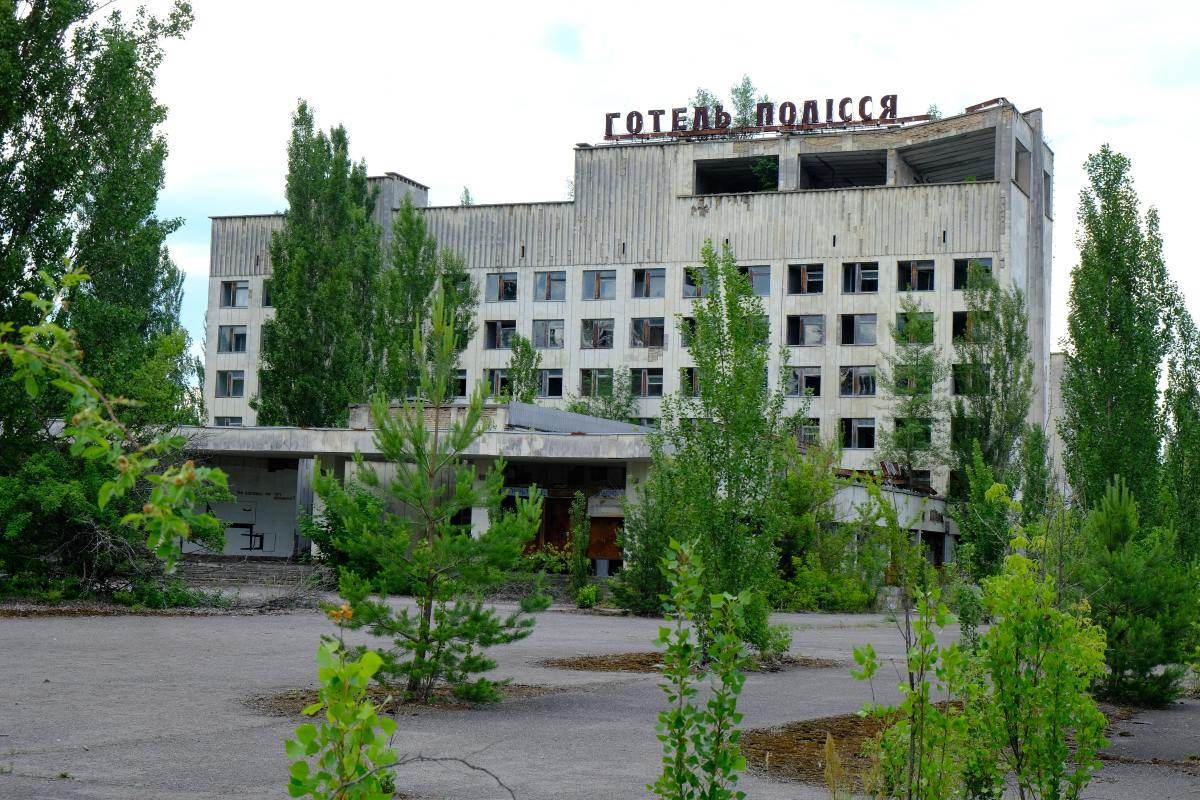 Remnants of Chernobyl 1986 nuclear disaster