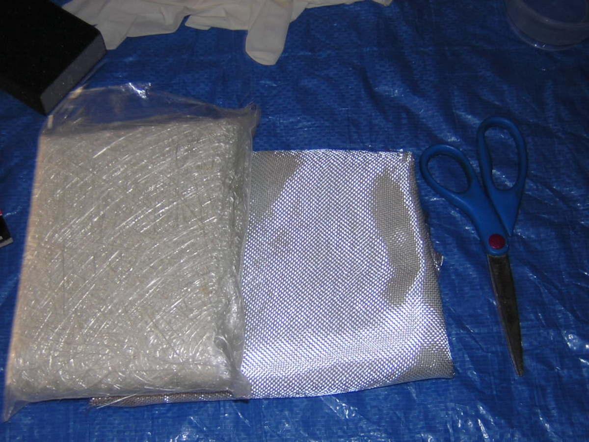 Fiberglass mat and cloth