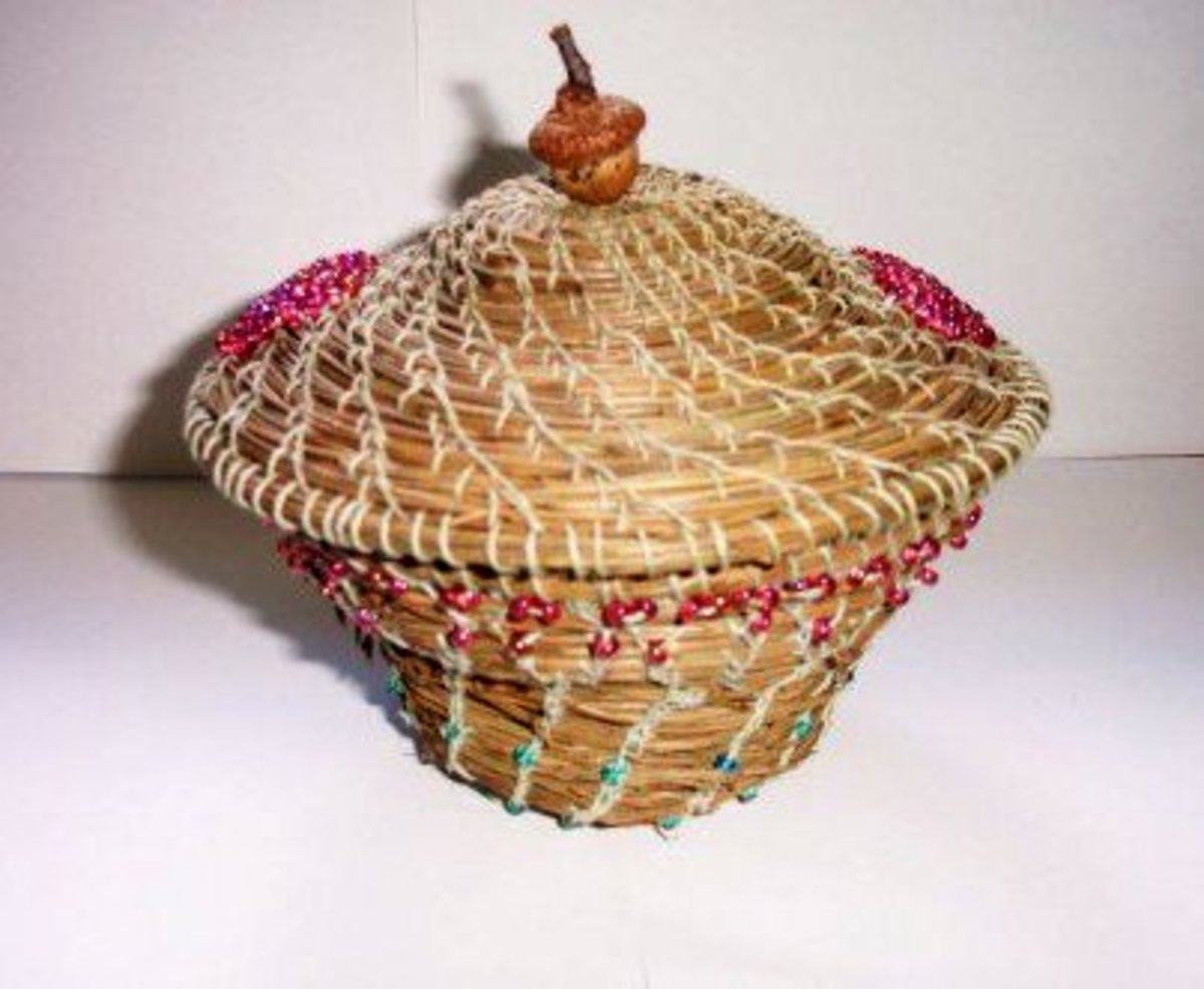 Finished Basket. It's not perfect, but I learned so much.